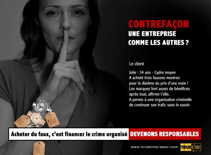Campagne Truetime contre la contrefaçon : visuel n°4