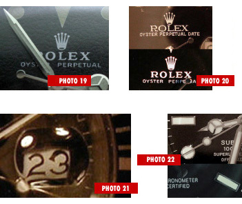 Reconnaître les contrefaçons (marques : Rolex, Panerai, Bréguet, Cartier...)